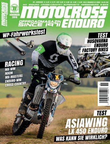 Motocross Enduro Ausgabe 11/2016
