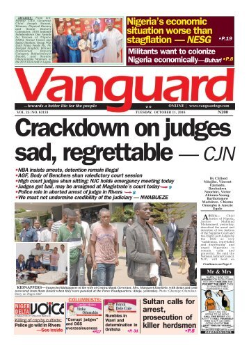 Crackdown on judges sad, regrettable — CJN
