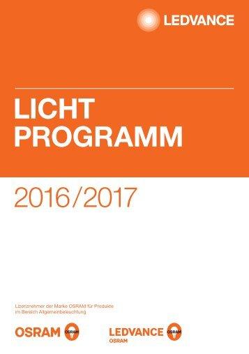 LEDVANCE Lichtprogramm 2016/17