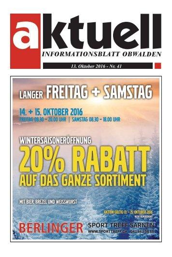 Aktuell Obwalden 41-2016