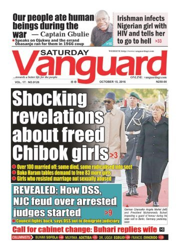 Shocking revelations about freed Chibok girls