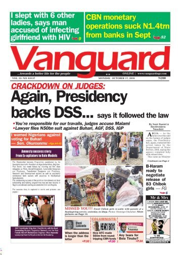 CRACKDOWN ON JUDGES: Again, Presidency backs DSS... says it followed the law