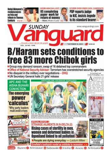 B/Haram sets conditions to free 83 more Chibok girls