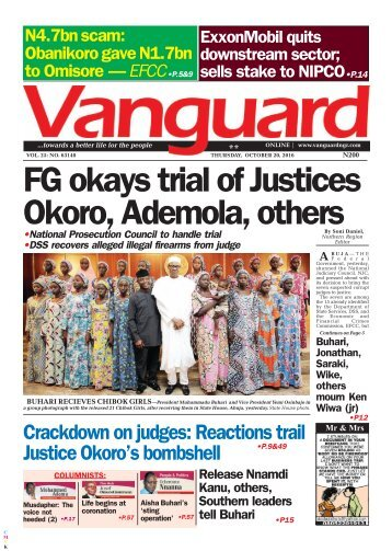FG okays trial of Justices Okoro, Ademola, others