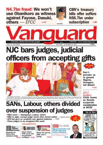 NJC bars judges, judicial officers from accepting gifts