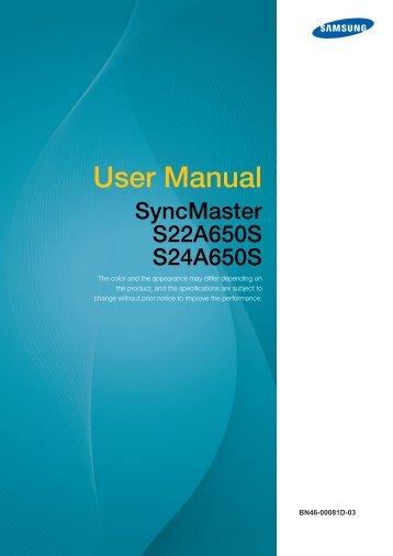 Samsung user manual 5 series