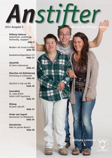 Anstifter 3, 2014 der Stiftung Liebenau