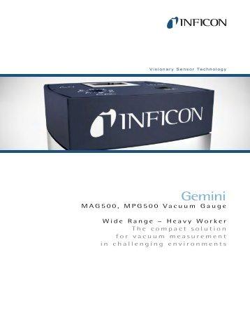 Vacuum Gauge - Gemini MAG500 MPG500 - INFICON