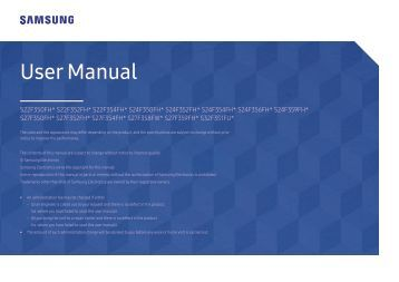 "Samsung 32"" LED Monitor - LS32F351FUNXZA - User Manual ver. 1.0 (ENGLISH,0.89 MB)"