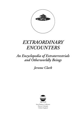 Extraordinary Encounters - Jerome Clark