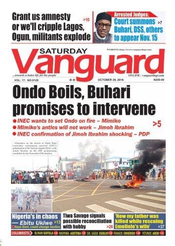 Ondo Boils, Buhari promises to intervene