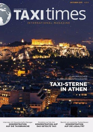 Taxi Times International - Oktober 2015 - Deutsch