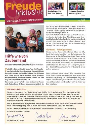 Liebenauer Spendennachrichten Februar 2016