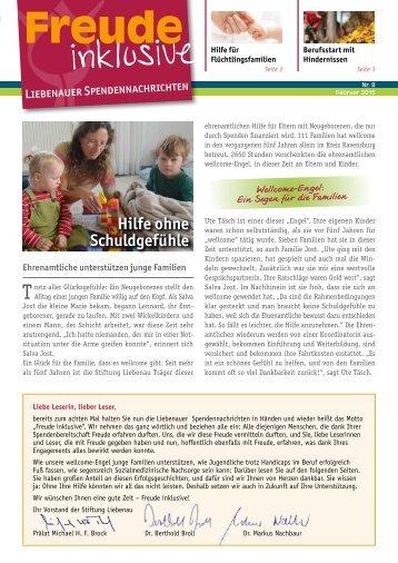 Liebenauer Spendennachrichten Februar 2015