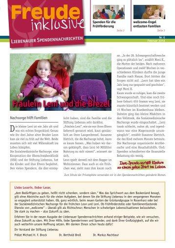 Liebenauer Spendennachrichten Februar 2014