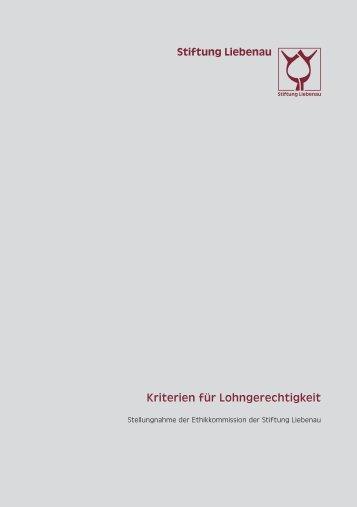 Kriterien für Lohngerechtigkeit (2011)