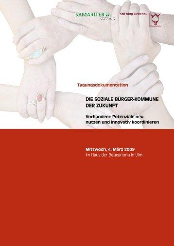 Tagungsdokumentation - Die soziale Bürger-Kommune der Zukunft (2009)