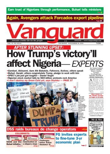 How Trump's victory'll affect Nigeria— EXPERTS