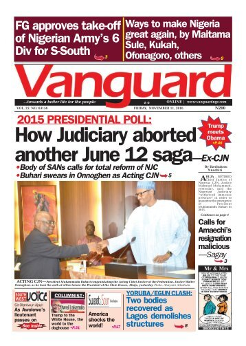 2015 PRESIDENTIAL POLL: How Judiciary aborted another June 12 saga—Ex-CJN