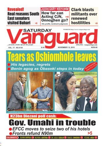 Tears Oshiomhole leaves