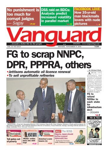 FG to scrap NNPC, DPR, PPPRA, others