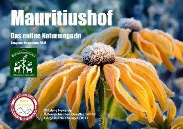 Mauritiushof Natur Magazin November 2016