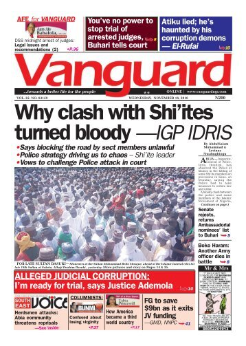 Why clash with Shi'ites turned bloody - IGP IDRIS