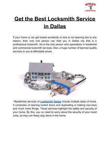 Locksmith Dallas