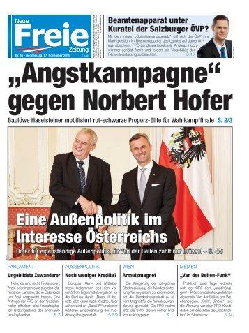 """Angstkampagne"" gegen Norbert Hofer"