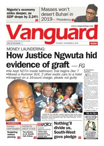 MONEY LAUNDERING: How Justice Ngwuta hid evidence of graft — FG