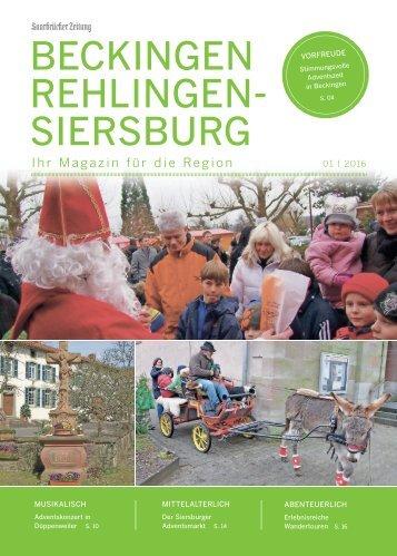 Gemeindemagazin Beckingen/Rehlingen-Siersburg 01|2016