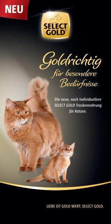Select Gold Trockennahrung für die Katze