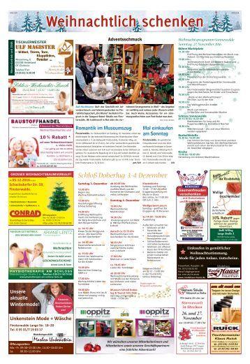 Weihnachtlich schenken in Finsterwalde vom 24. November 2016