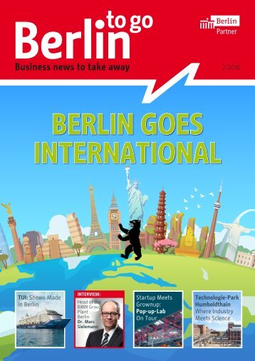 Berlin to go, english edition, 02/2016