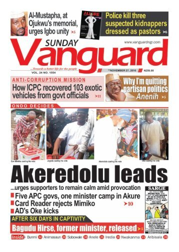 ONDO DECIDES: Akeredolu leads