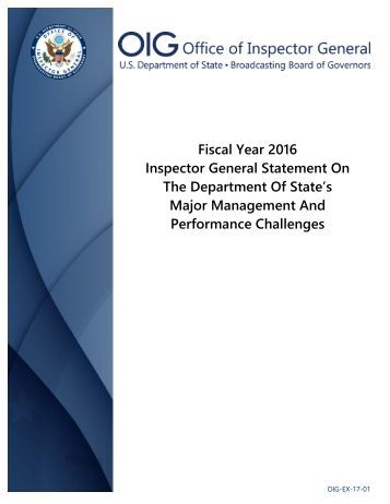 Major Management And Performance Challenges
