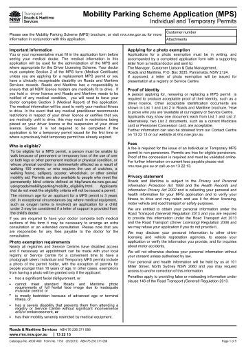 Mobility Parking Scheme Application (MPS)