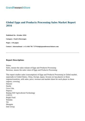 global-eggs-and-products-processing-sales-market