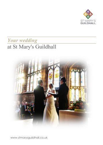 Weddings brochure