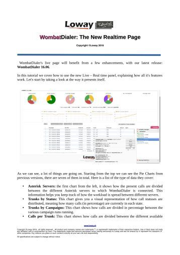 WombatDialer Dialer  The New Realtime Page
