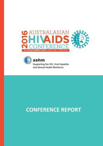 AUSTRALASIAN HIV CONF REPORT 2016_FINAL