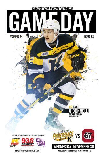 Kingston Frontenacs GameDay November 30, 2016