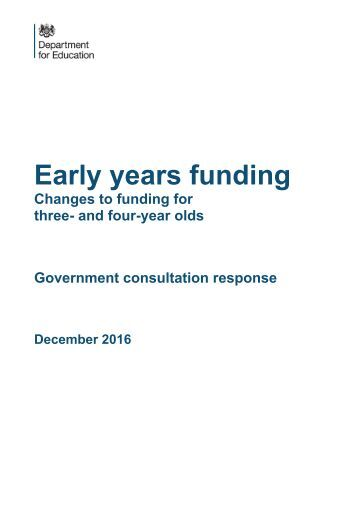 Early years funding