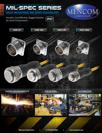 Mencom MIL-Spec Industrial 5015 Equivalent Connectors