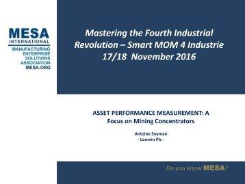 Antoine Snyman OEE - MESA Conference 2016 v2