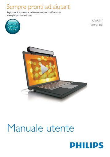 Philips Barre de son pour ordinateur portable - Mode d'emploi - ITA