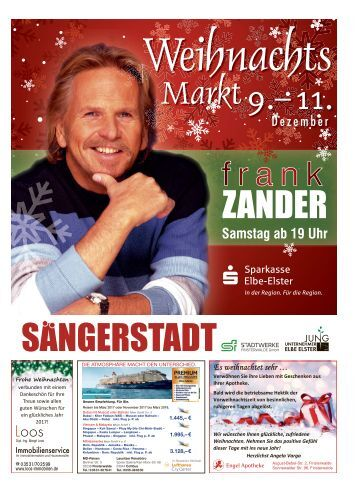 Weihnachtsmarkt in Finsterwalde 9.–11. Dezember