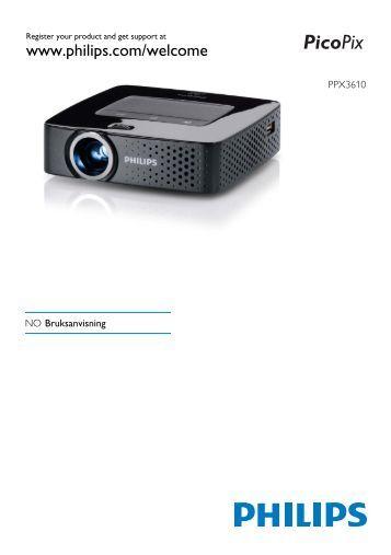 Philips PicoPix Projecteur de poche - Mode d'emploi - NOR
