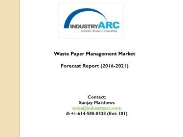 Waste Paper Management Market
