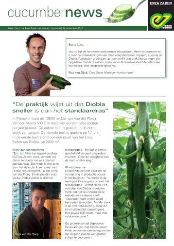 Cucumbernews November 2016 NL